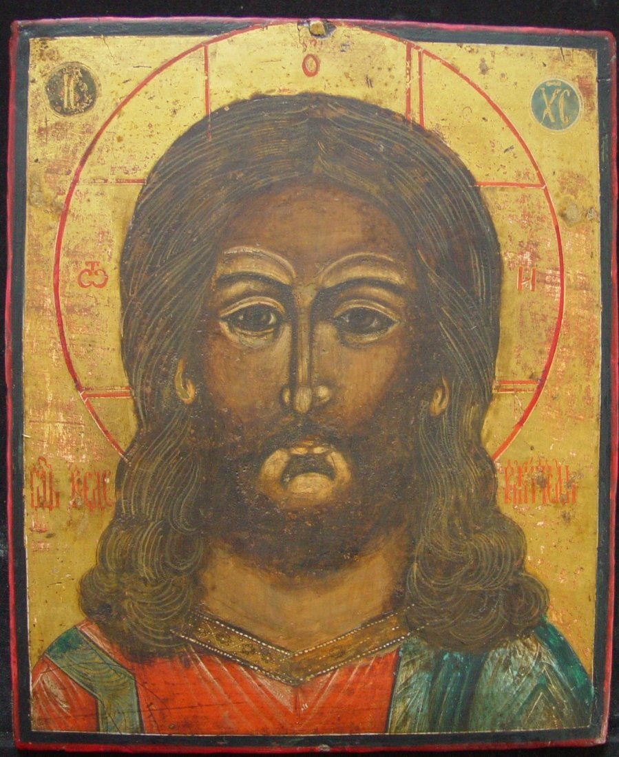 Christ, 19th century, russian icon.