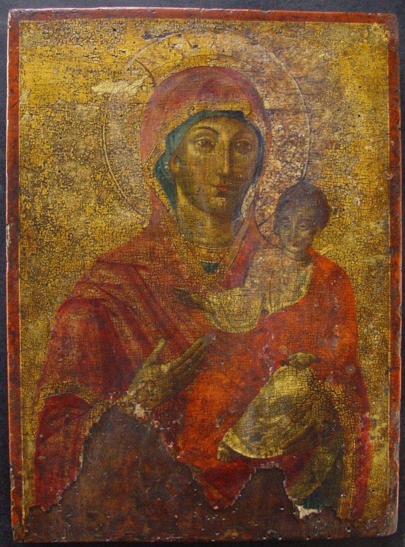 Mothergod of Hodegetria, 17/18th century, Greec Icon.
