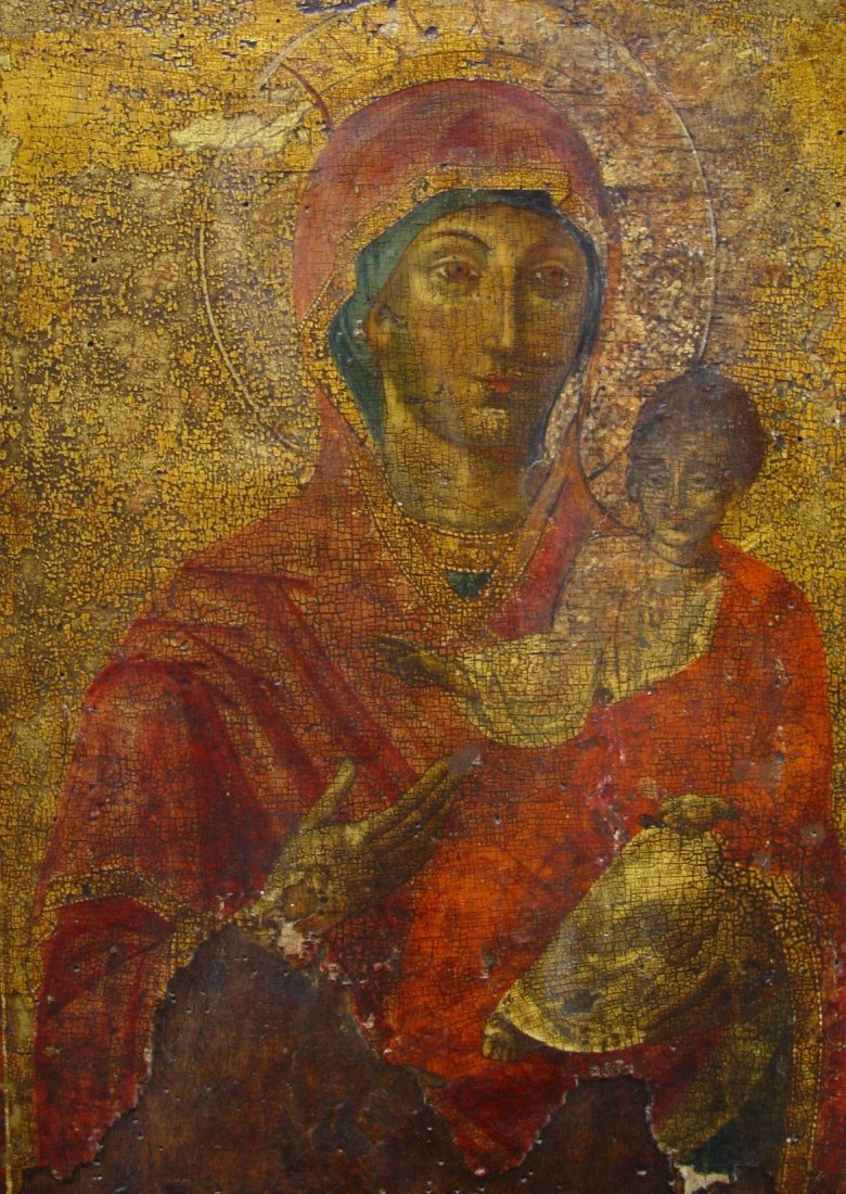 Mothergod of Hodegetria, 17/18th century, Greec Icon. - 2
