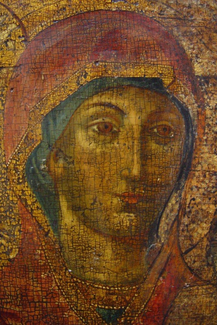 Mothergod of Hodegetria, 17/18th century, Greec Icon. - 3