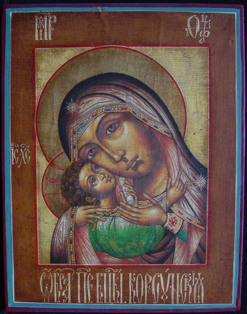 Mother of God of Korsun, age 1900 -1940, Russian Icon