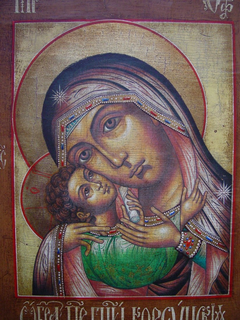 Mother of God of Korsun, age 1900 -1940, Russian Icon - 3