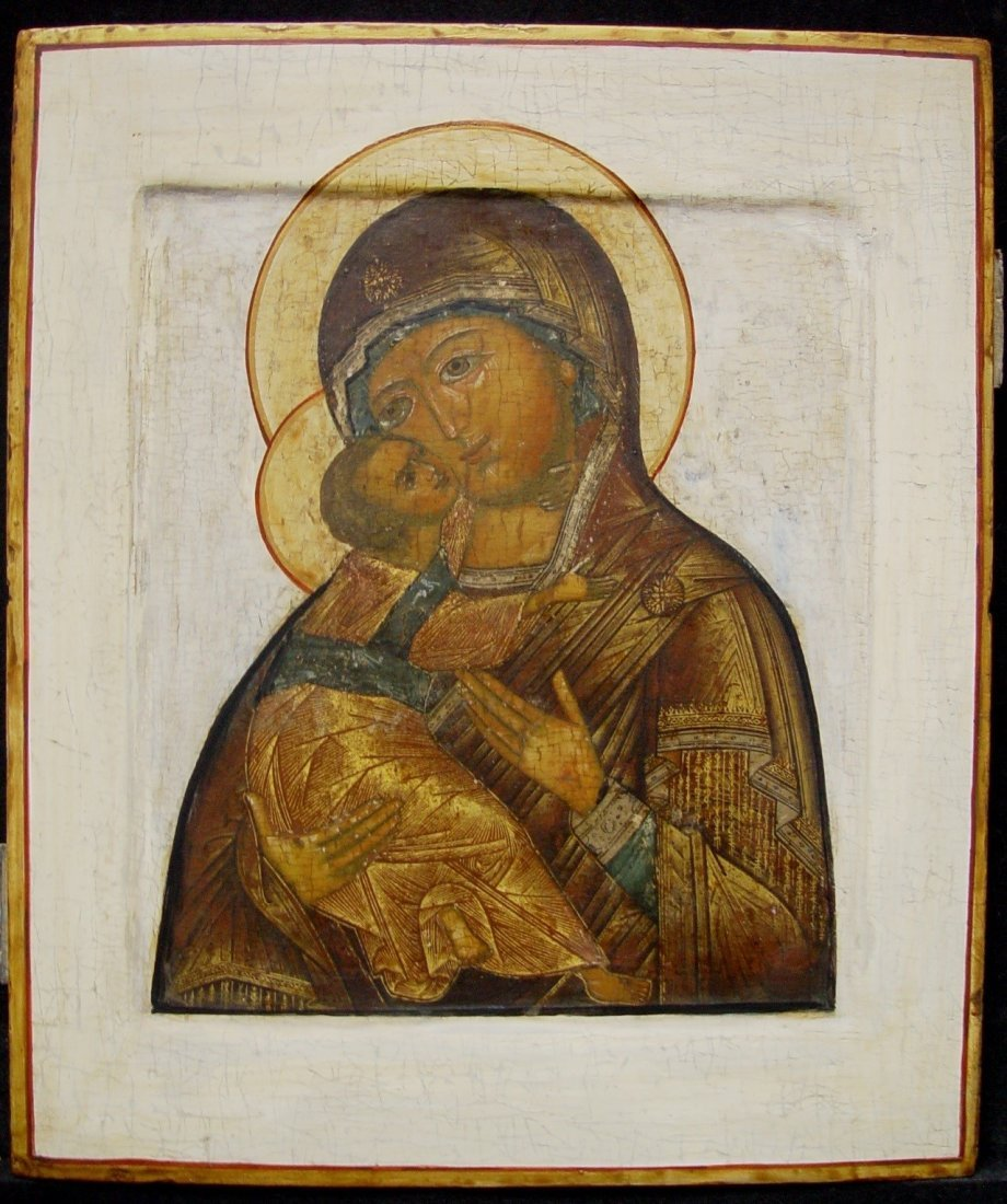 Virgin of Vladimir, 18th century, Russian Icon.