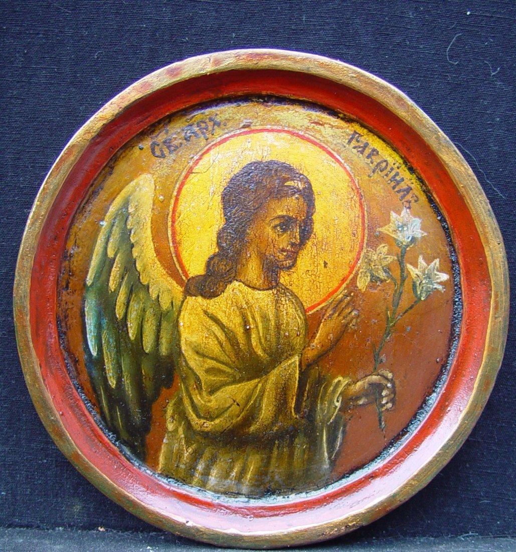Archangel Gabriel, 19th century, russian icon.
