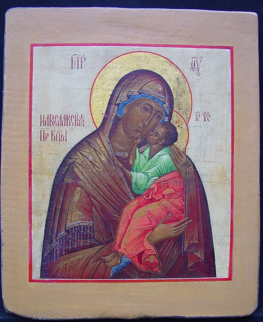 Mother God of Glykophilousa, 19th century, russian icon