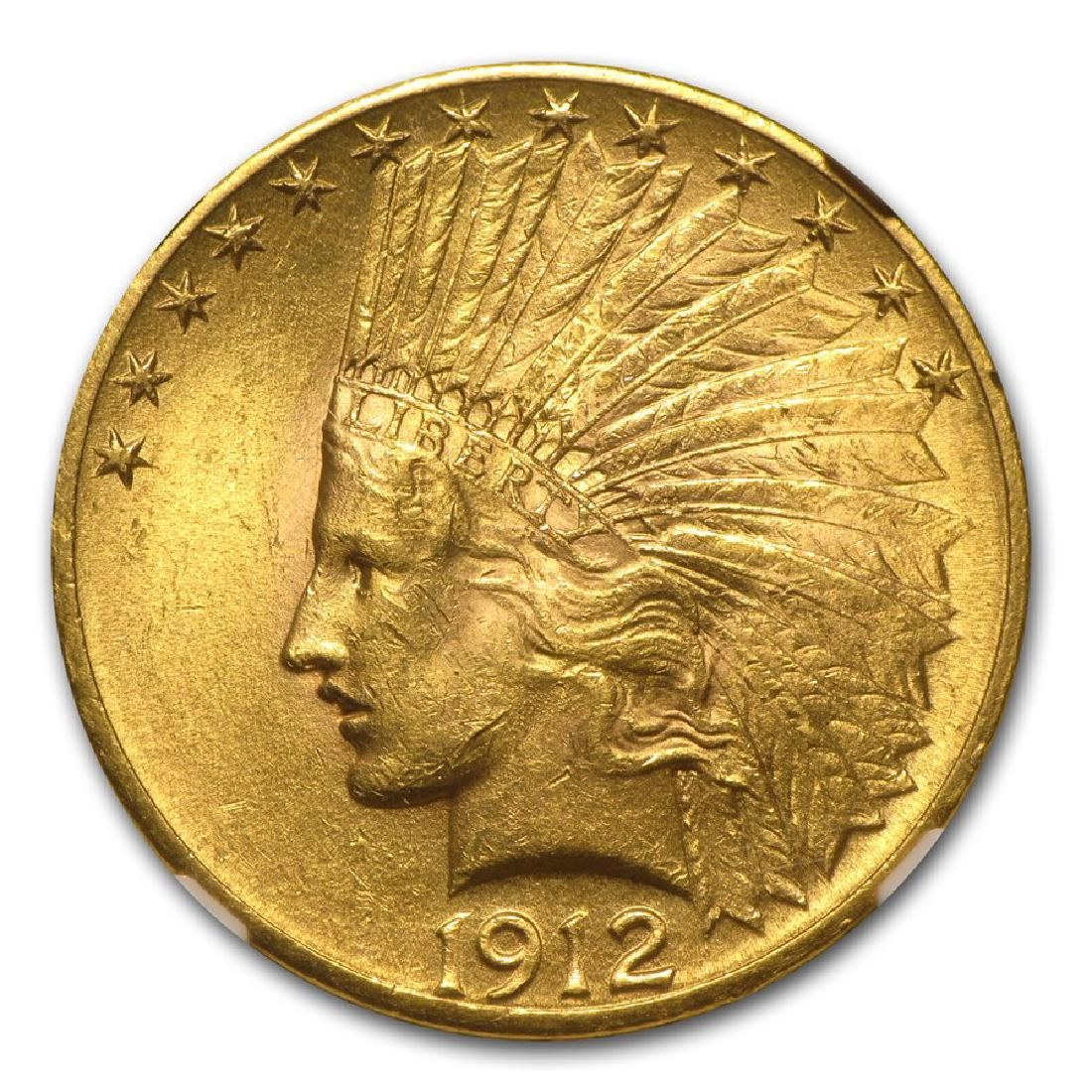 1912 $10 Indian Head Eagle Gold Coin NGC MS62