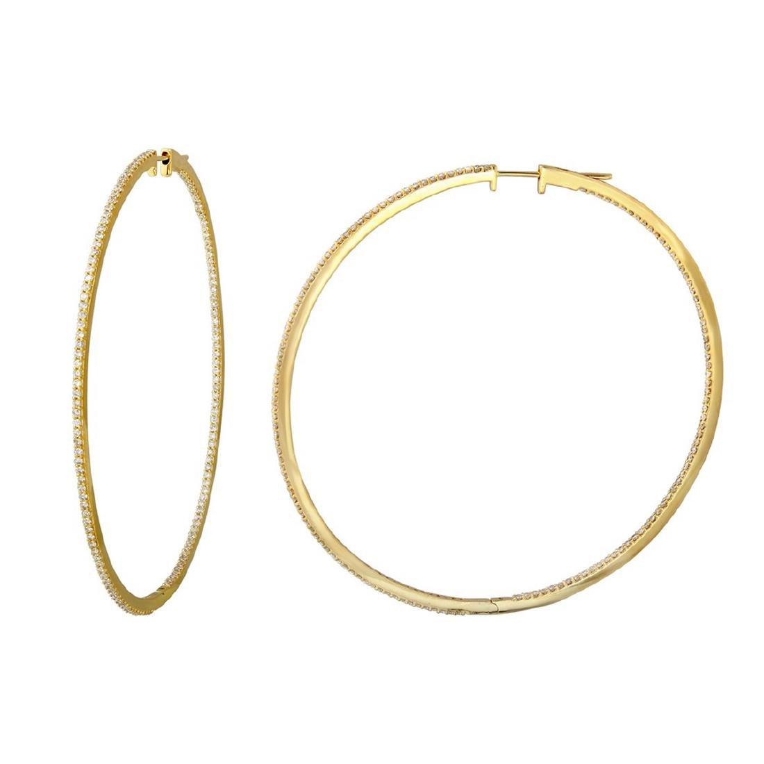 14KT Yellow Gold 2.12ctw Diamond Earrings