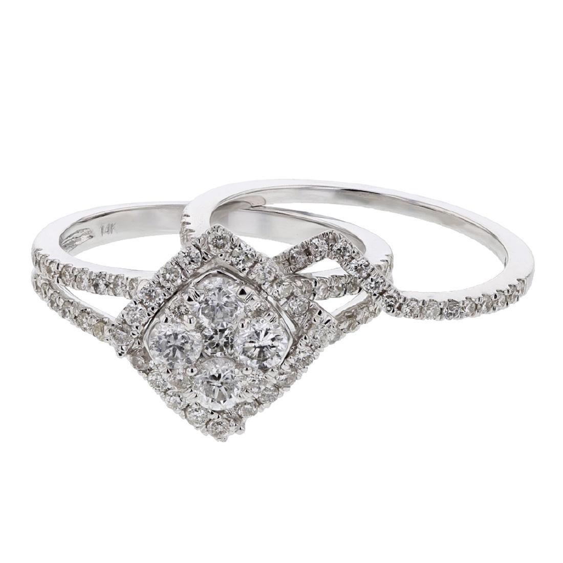 14KT White Gold 0.66ctw Diamond Ring