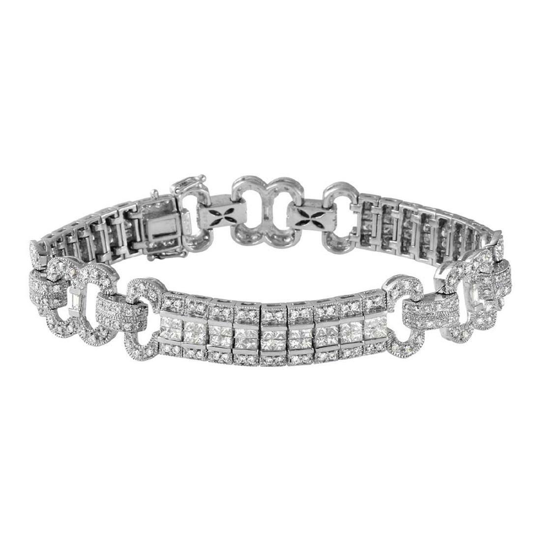18KT White Gold 4.42ctw Diamond Bracelet