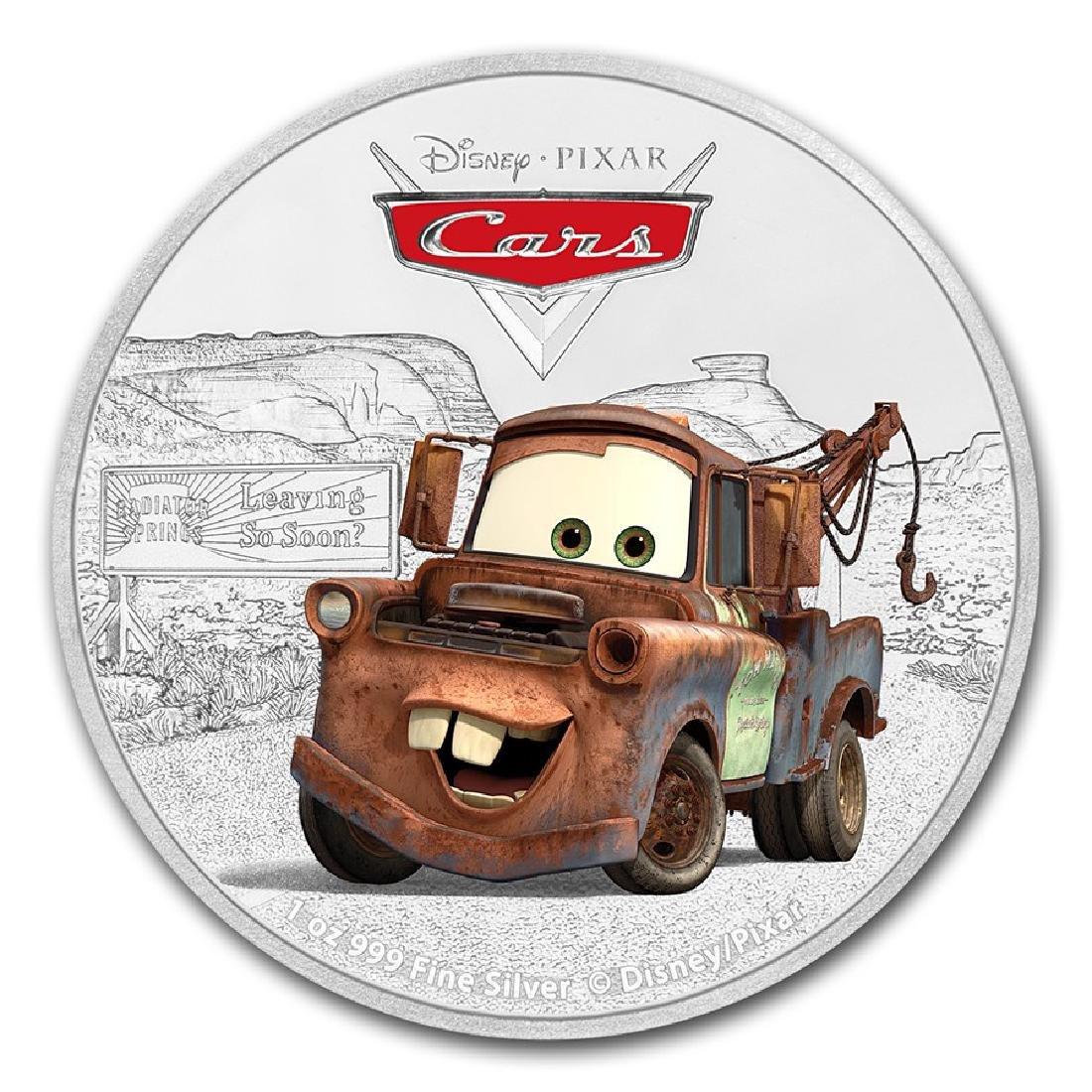 2017 $2 Disney Pixar Cars Tow Mater Niue Silver Coin