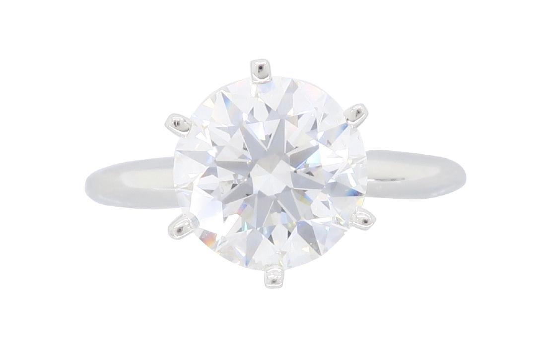 Platinum 2.02ct GIA Certified Diamond Ring