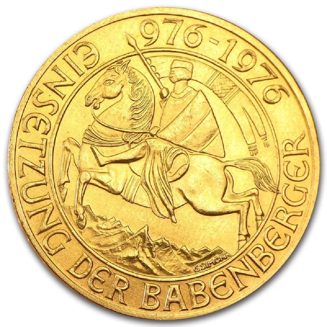 1976 Austria 1000 Schilling Gold Coin