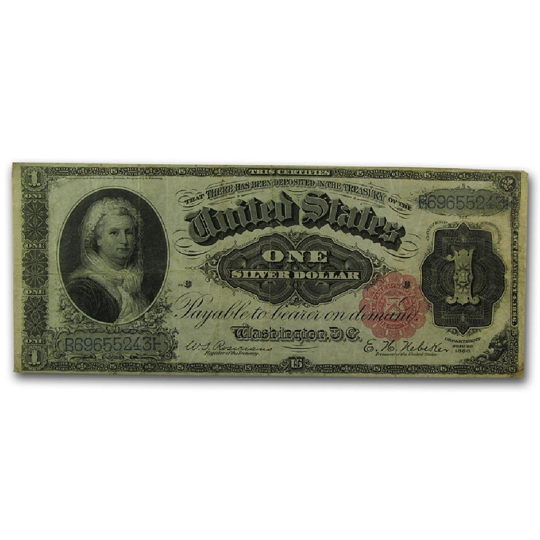 1886 $1 Martha Washington Silver Certificate