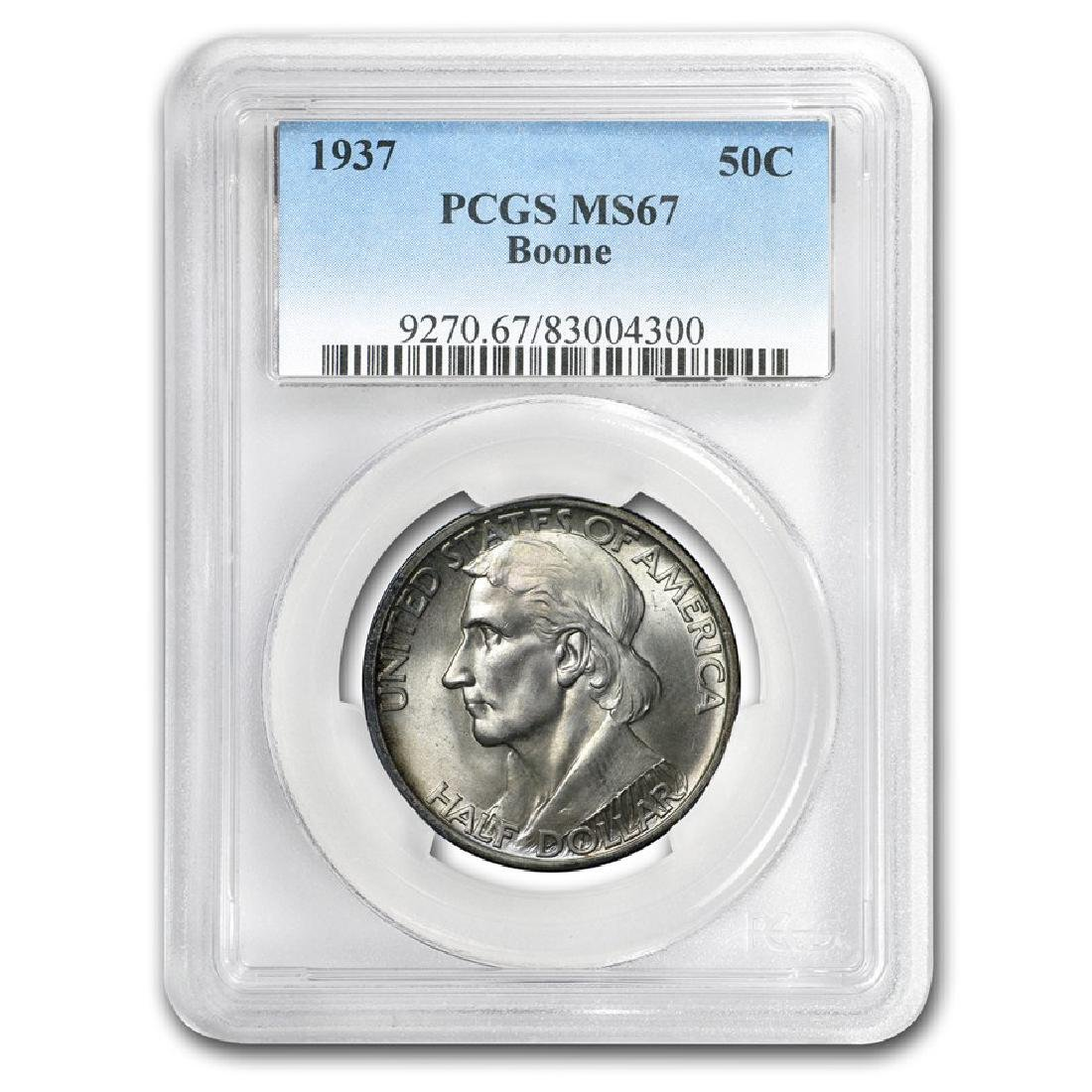 1937 Bonne Commemorative Half Dollar Coin PCGS MS67
