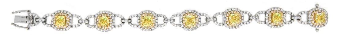 Platinum 12.17ctw GIA Cert Fancy Yellow Diamond