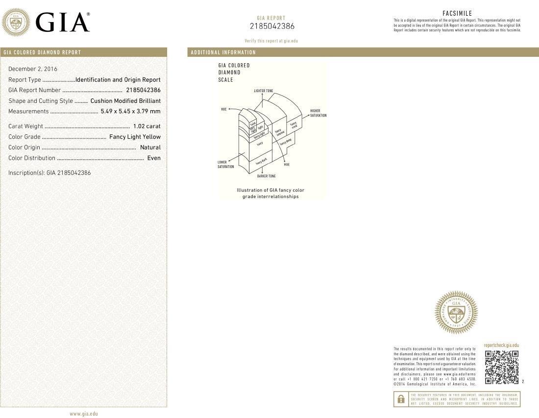Platinum 12.17ctw GIA Cert Fancy Yellow Diamond - 4