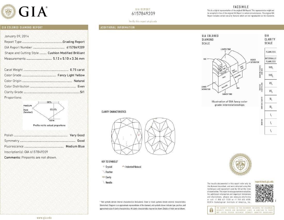Platinum 12.17ctw GIA Cert Fancy Yellow Diamond - 7