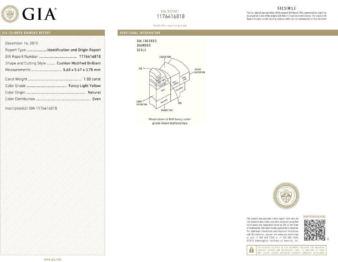 Platinum 12.17ctw GIA Cert Fancy Yellow Diamond - 8