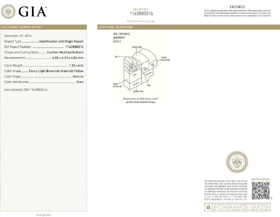 Platinum 12.17ctw GIA Cert Fancy Yellow Diamond - 9