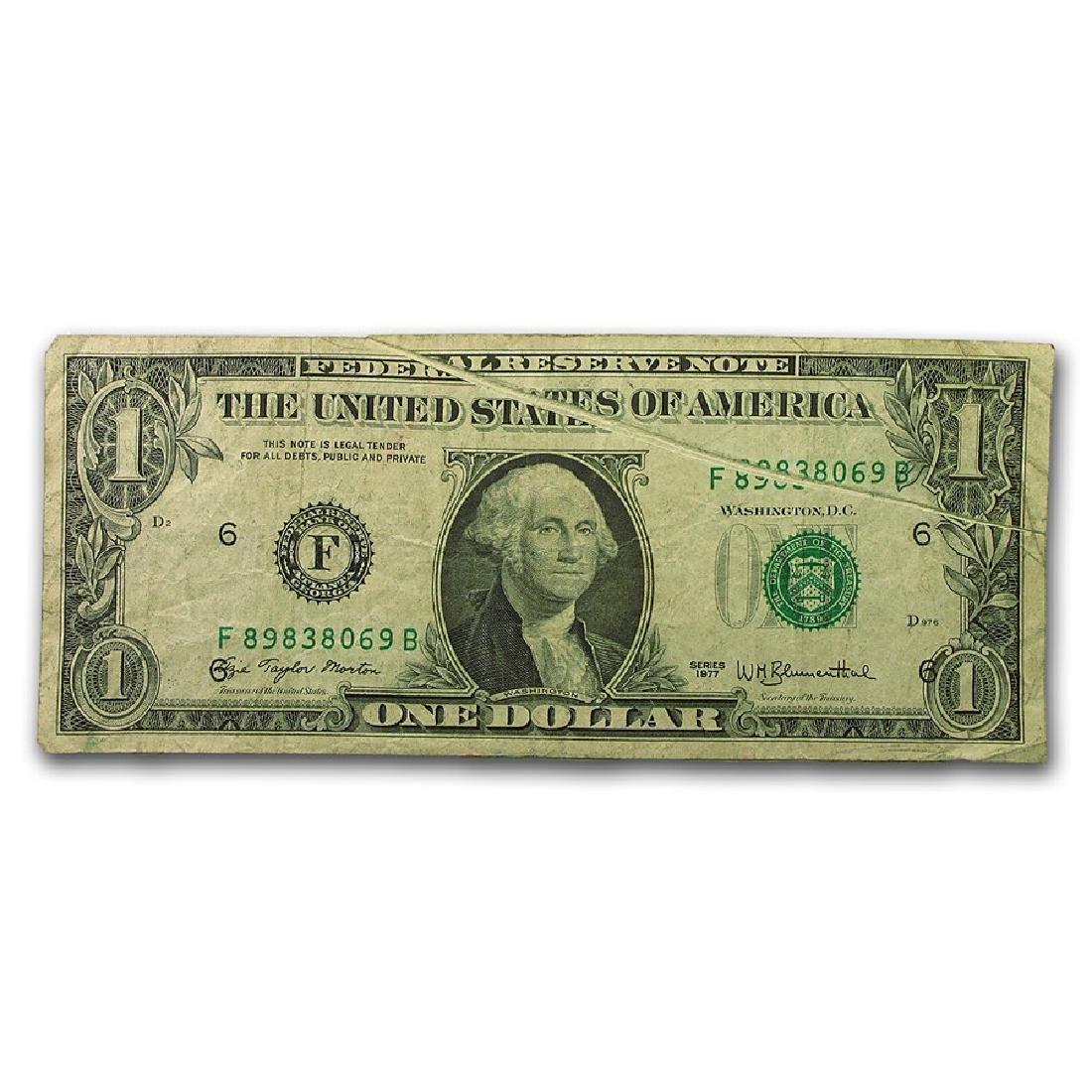1977 $1 Gutter Fold Error Atlanta Federal Reserve Note