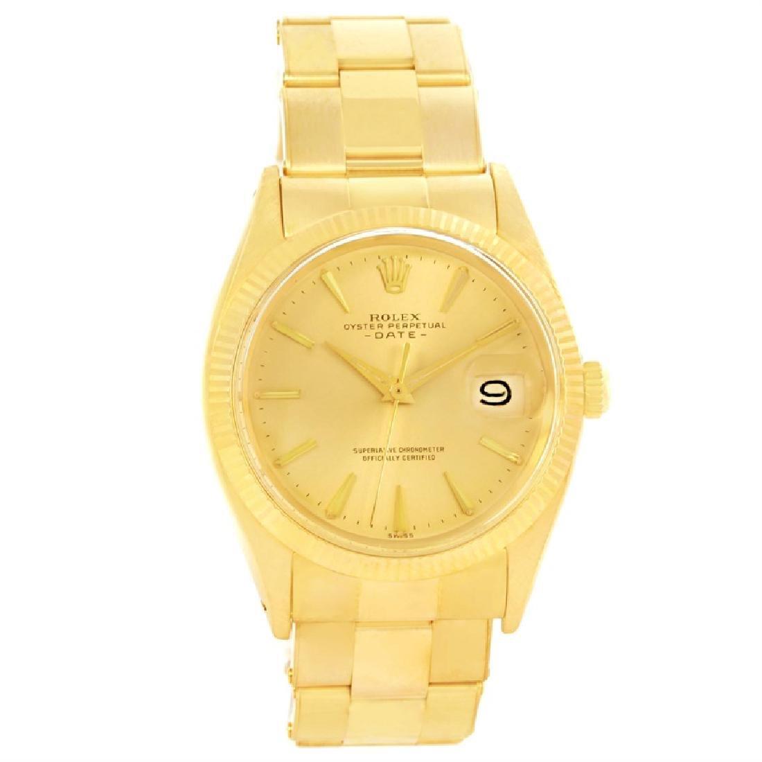 Rolex 18KT Yellow Gold Datejust Mens Wristwatch