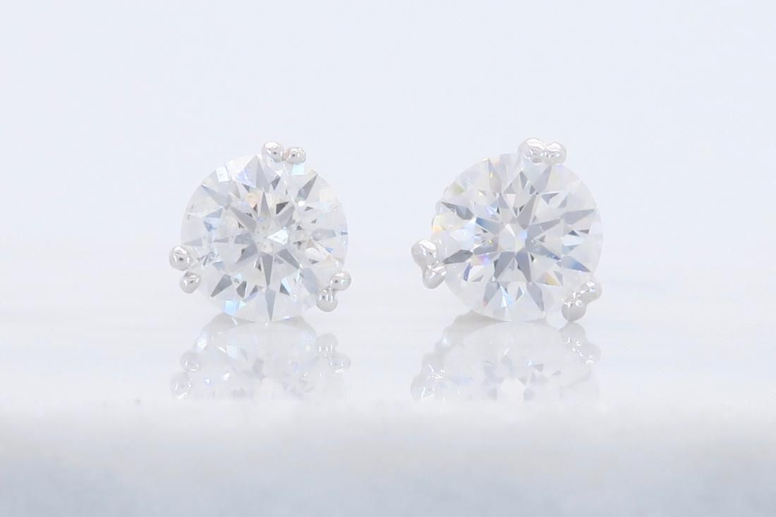 Platinum 1.80ctw Diamond Stud Earrings