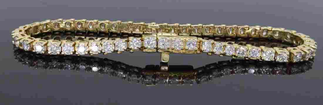 14KT Yellow Gold 3.50ctw Diamond Tennis Bracelet