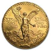 1943 Mexico 50 Peso Gold Coin