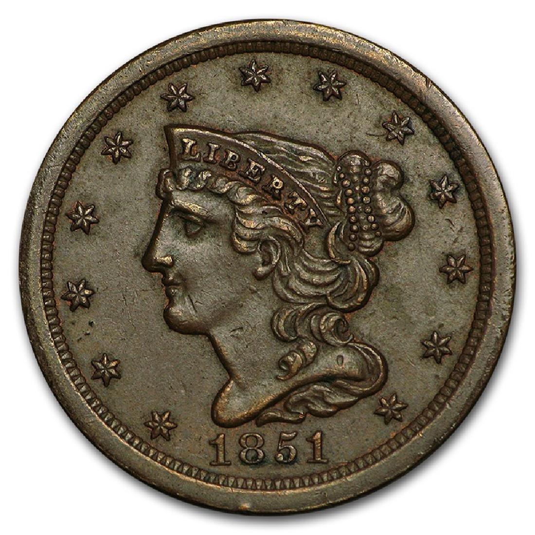 1851 Liberty Half Cent Coin