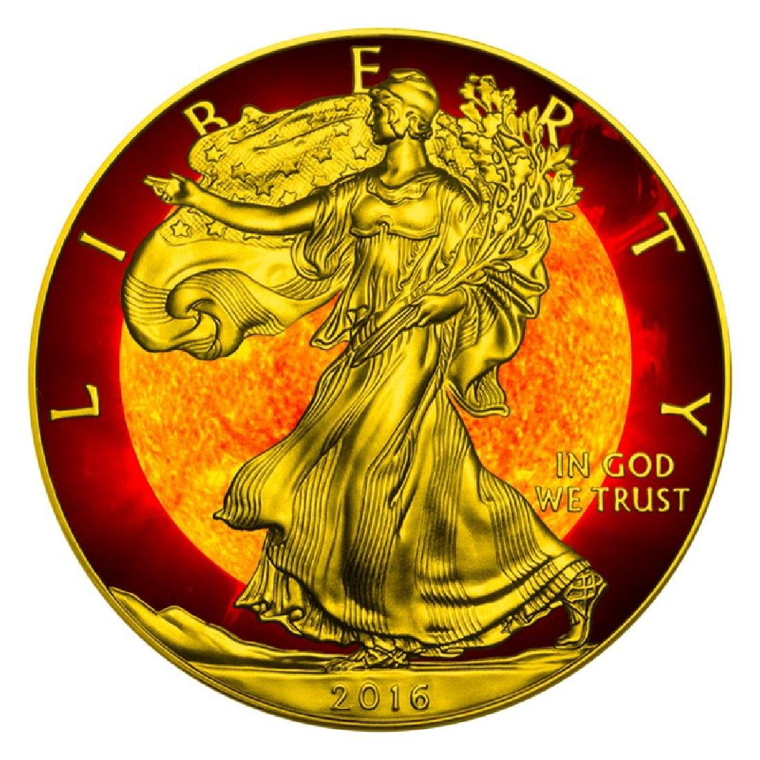 2016 Walking Liberty Solar Flare Silver Eagle Coin