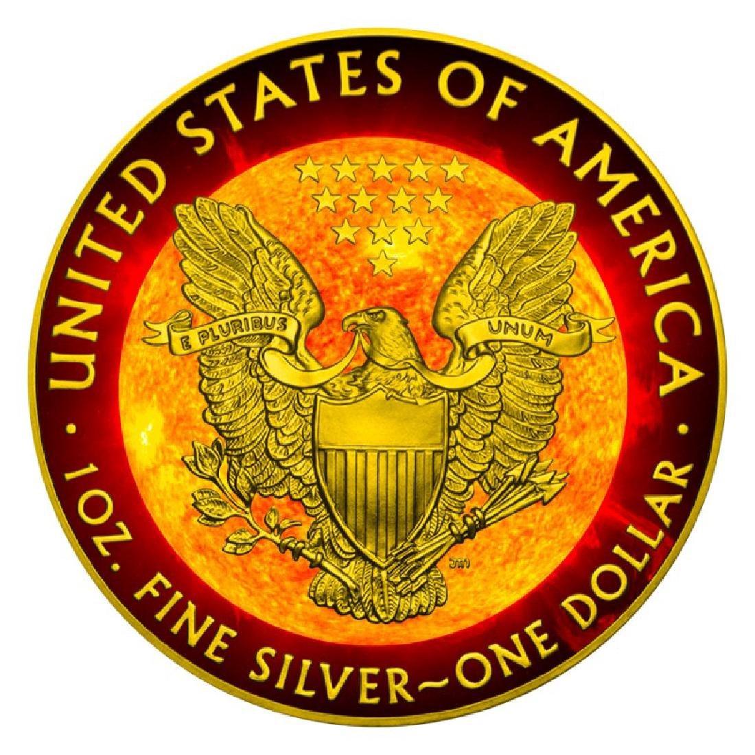 2016 Walking Liberty Solar Flare Silver Eagle Coin - 2