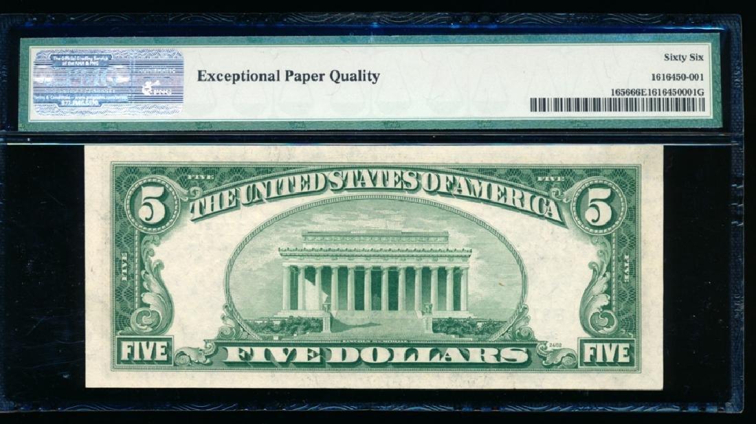 1953A $5 Silver Certificate PMG 66EPQ - 2