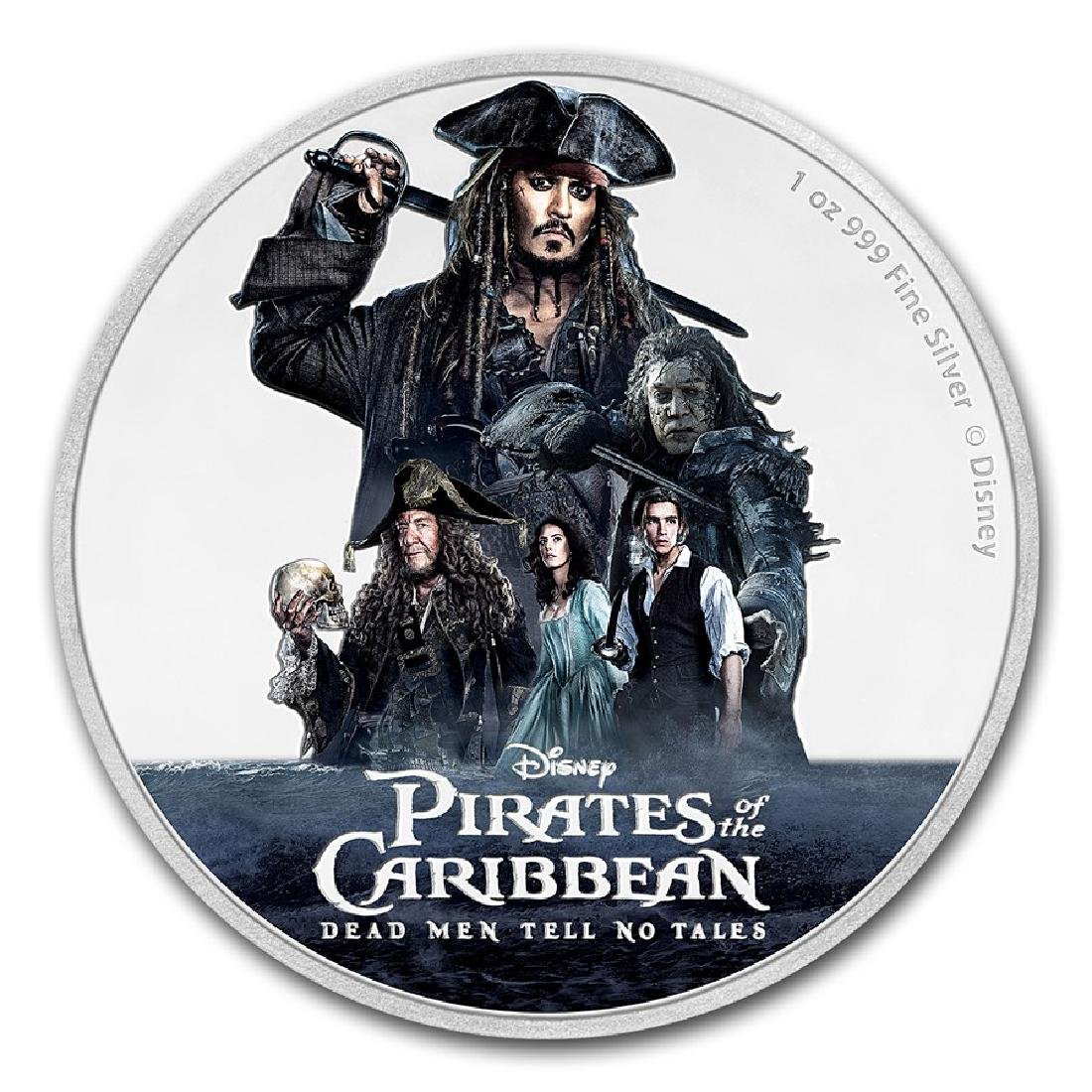 2017 $2 Disney Pirates of the Caribbean Niue Silver