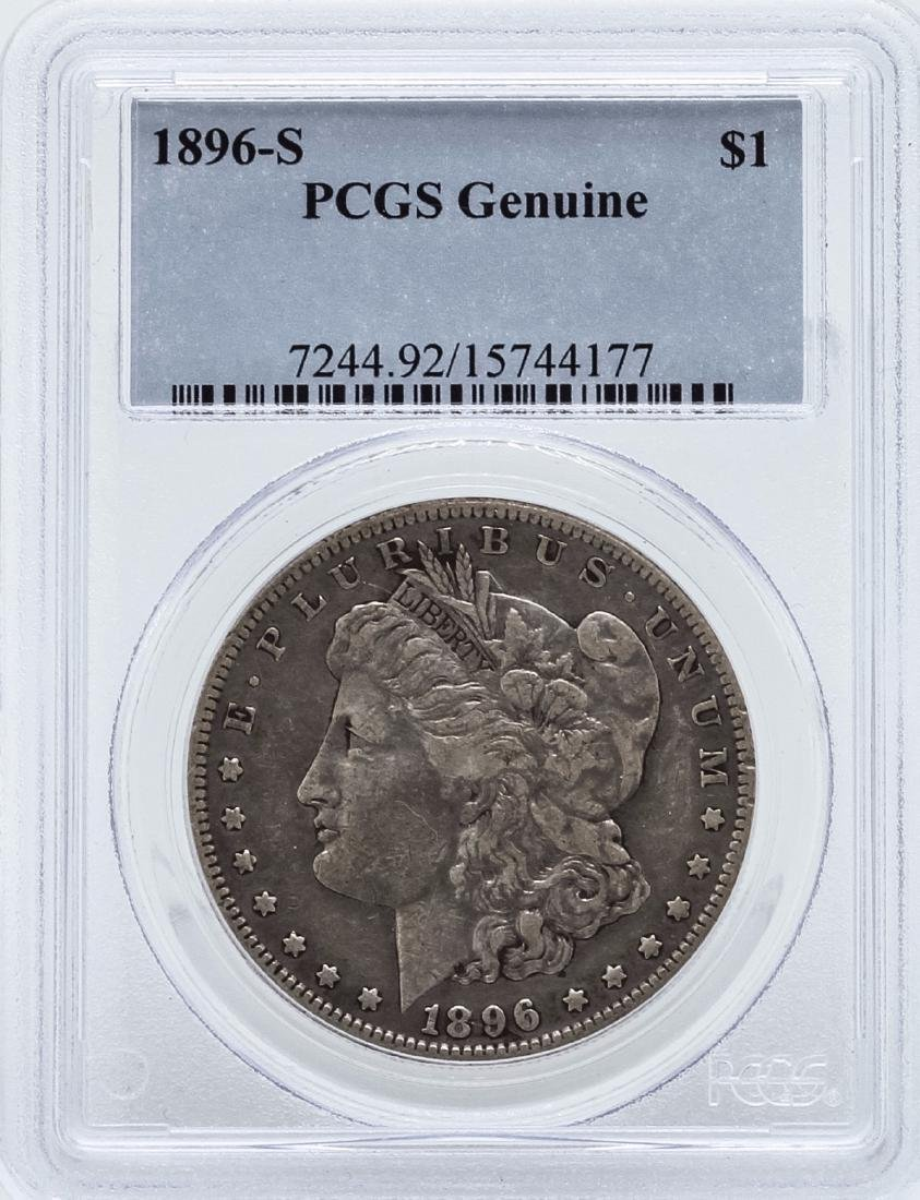 1896-S $1 Morgan Silver Dollar Coin PCGS Genuine