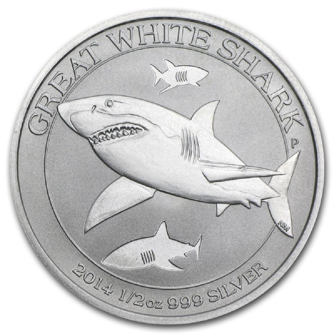 2014 Australia Great White Shark 1/2 oz Silver Coin