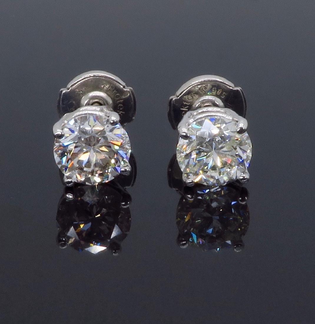 14KT White Gold 1.80ctw Diamond Stud Earrings