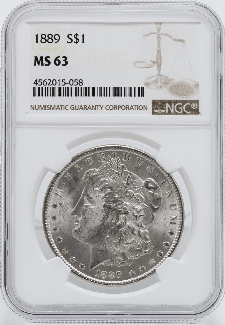 1889 $1 Morgan Silver Dollar Coin NGC MS63