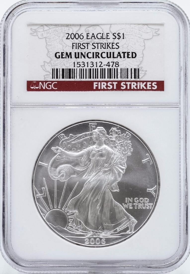 2006 $1 American Eagle Silver Coin NGC Gem Uncirculated