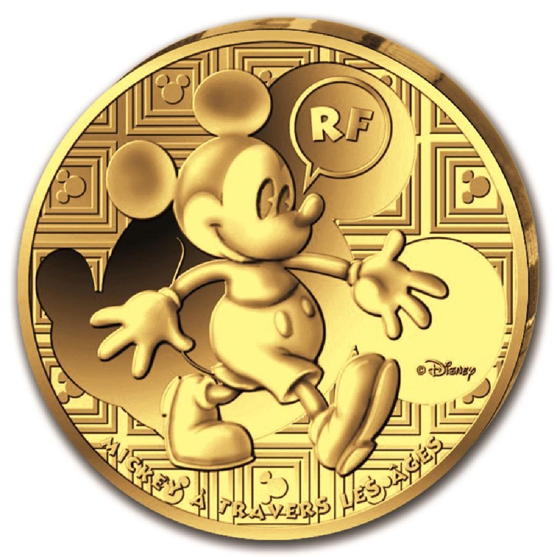 2016 France Gold Mickey Proof Through the Ages Gold