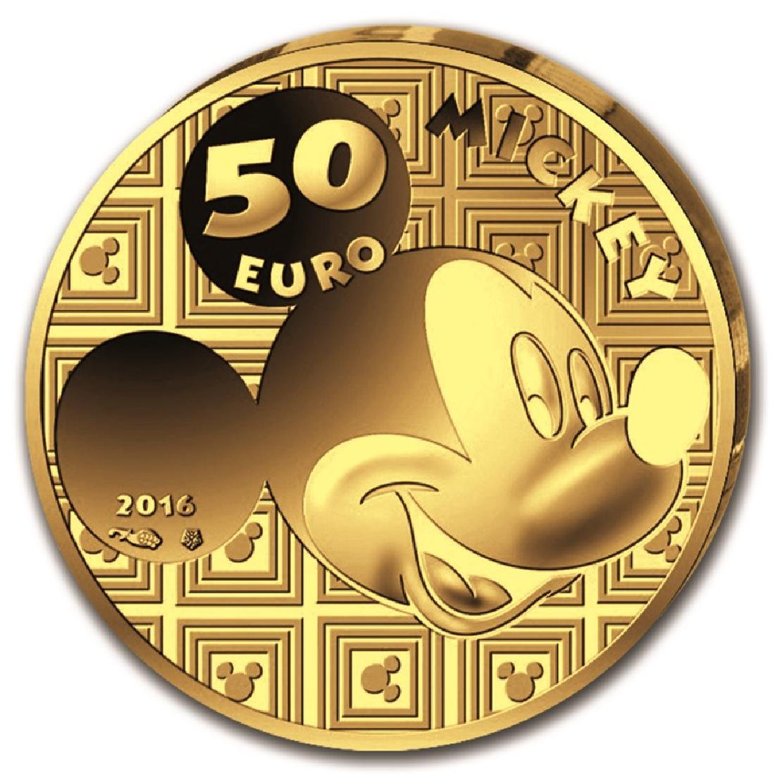 2016 France Gold Mickey Proof Through the Ages Gold - 2