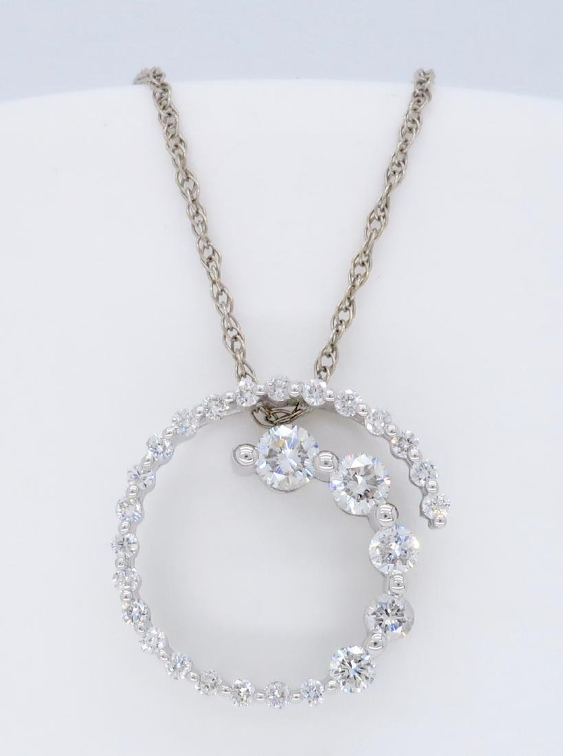 14KT White Gold 0.65ctw Diamond Pendant with Chain