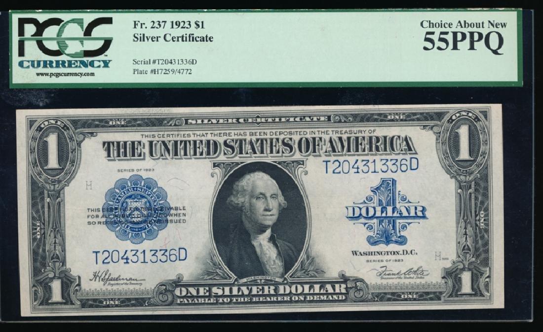 1923 $1 Silver Certificate PCGS 55PPQ