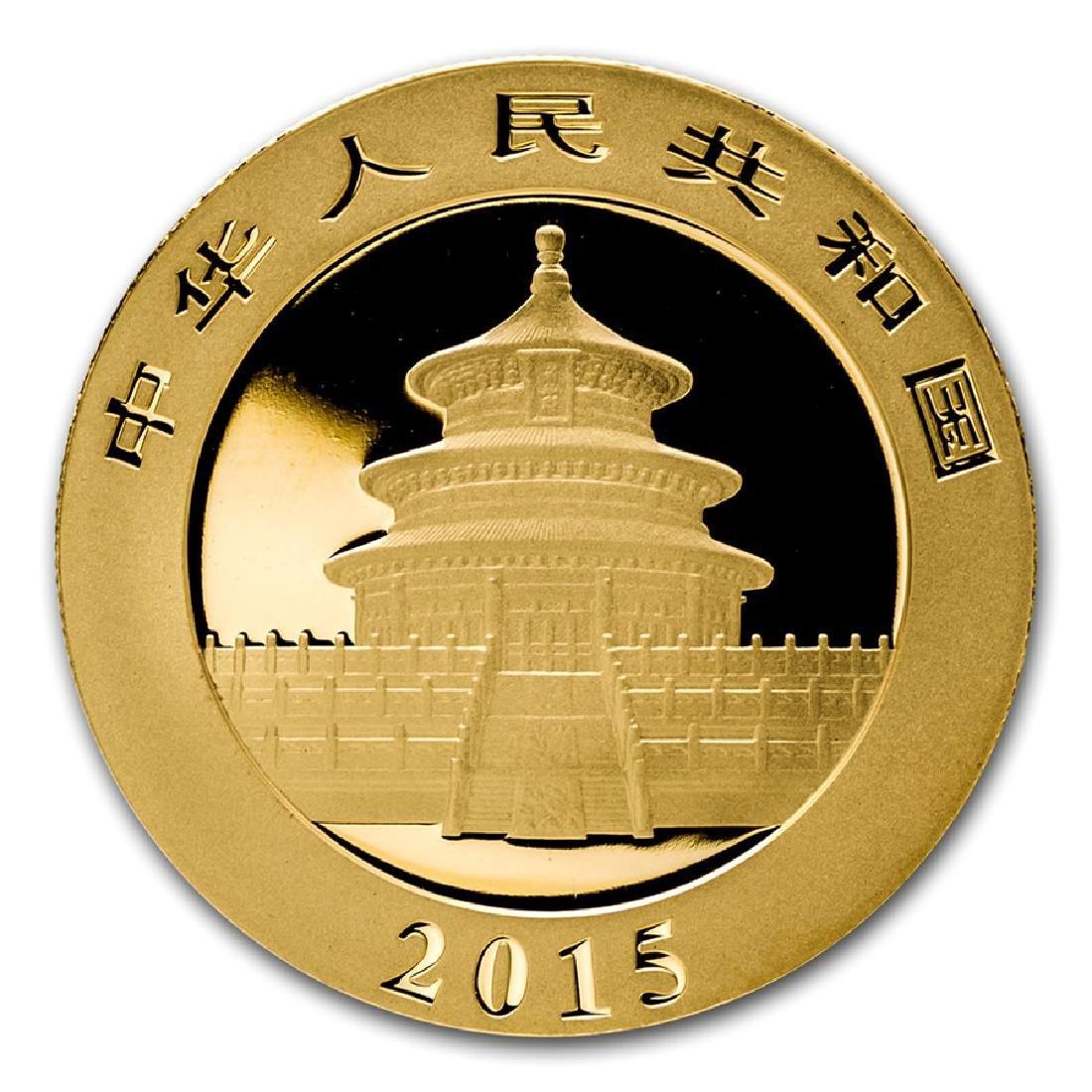 2015 China Panda 1/20 oz Gold Coin - 2