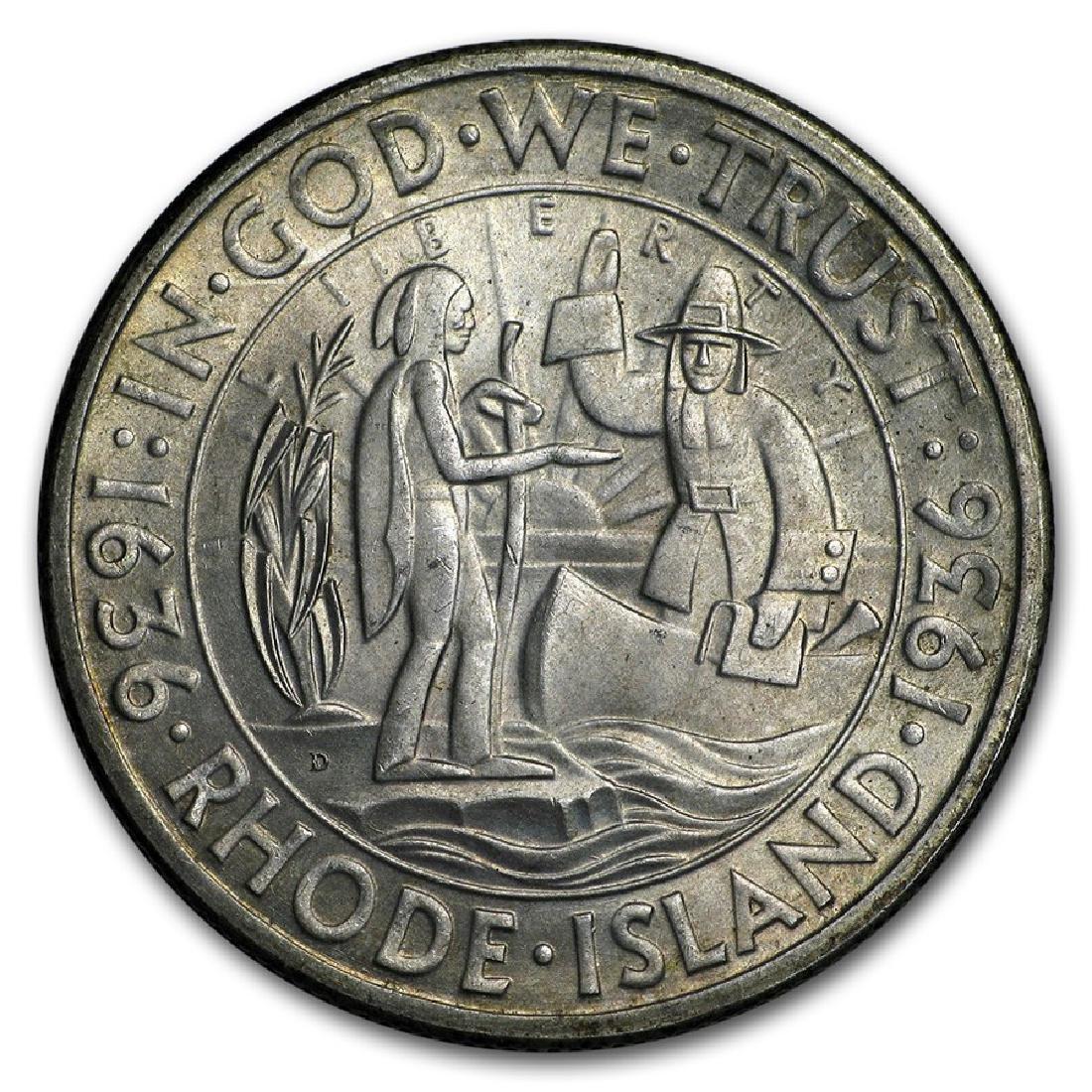 1936-D Rhode Island Half Dollar Coin