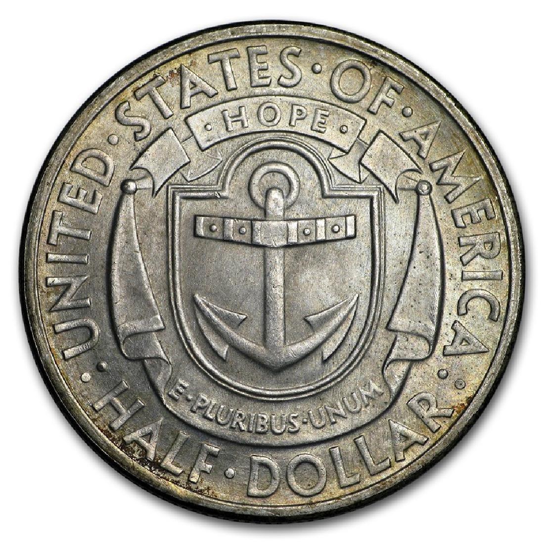 1936-D Rhode Island Half Dollar Coin - 2