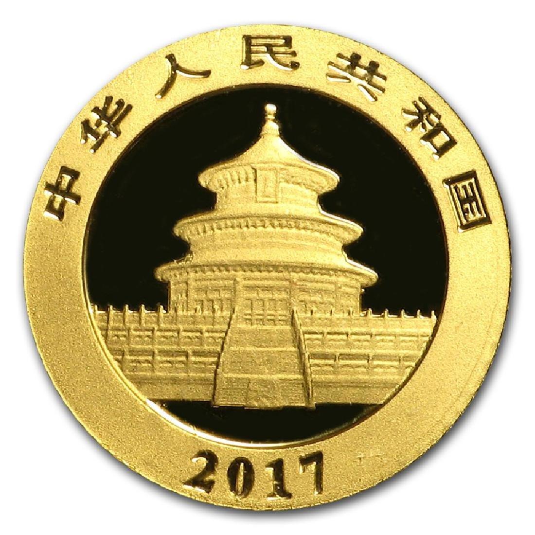 2017 China Panda 1 Gram Gold Coin - 2