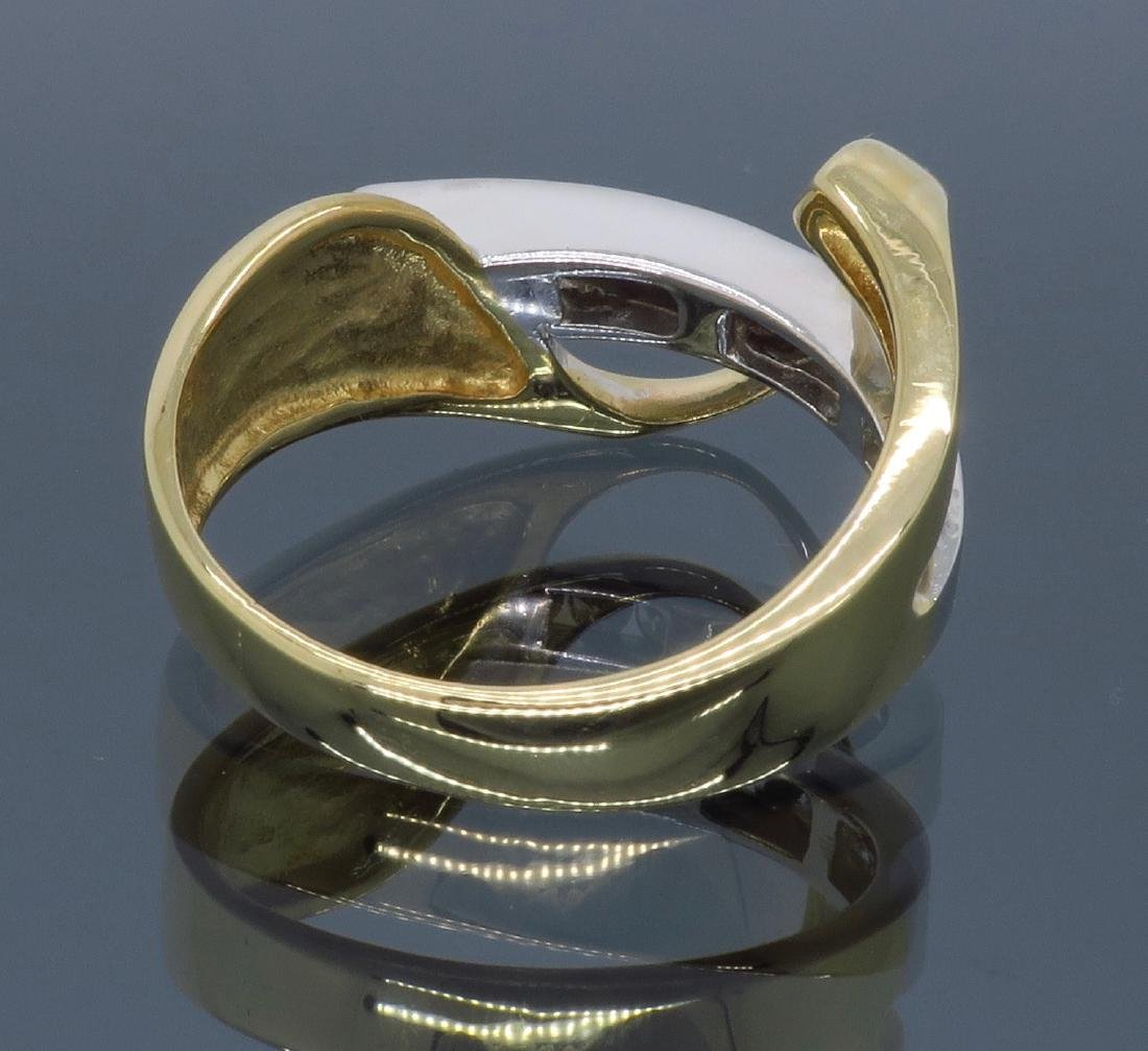 14KT Two Tone Gold 0.50ctw Diamond Ring - 10