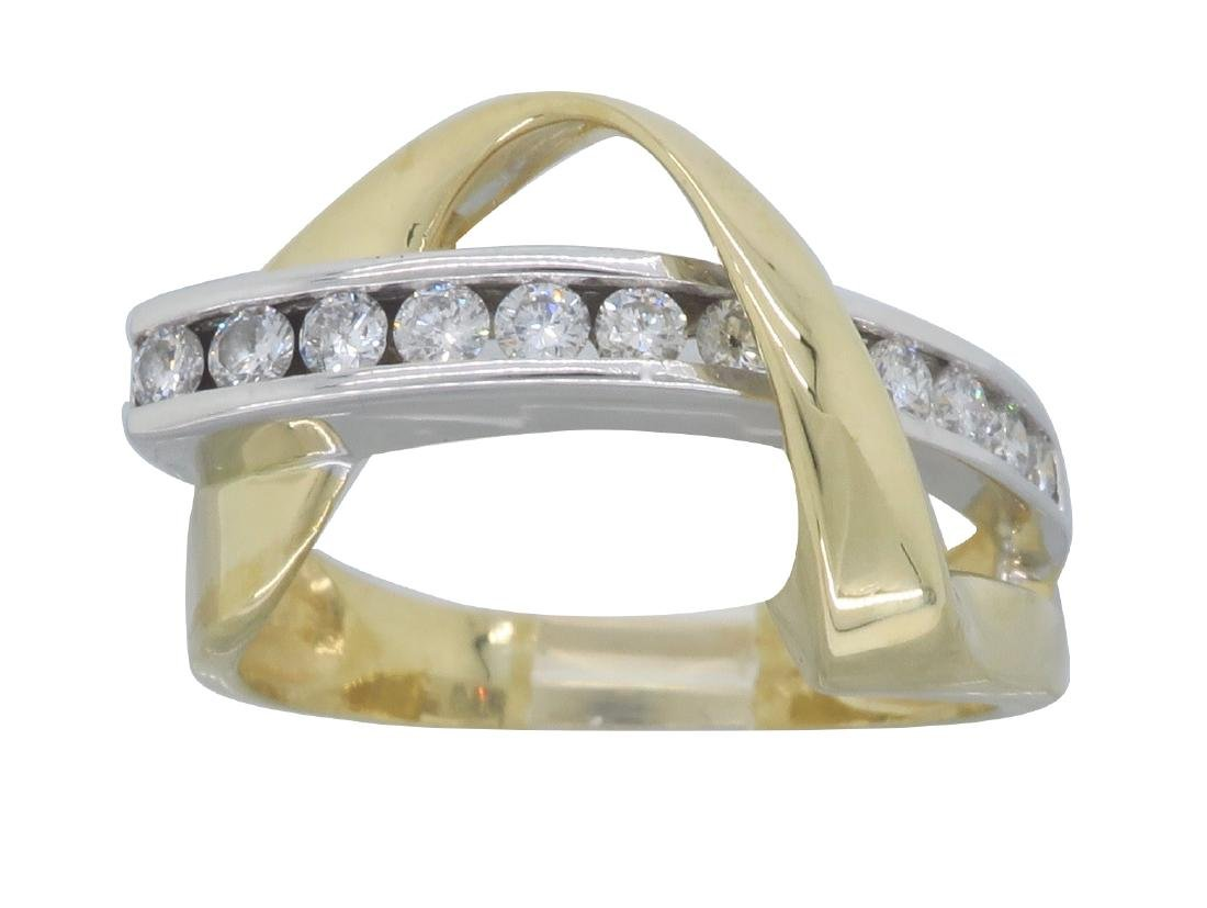 14KT Two Tone Gold 0.50ctw Diamond Ring
