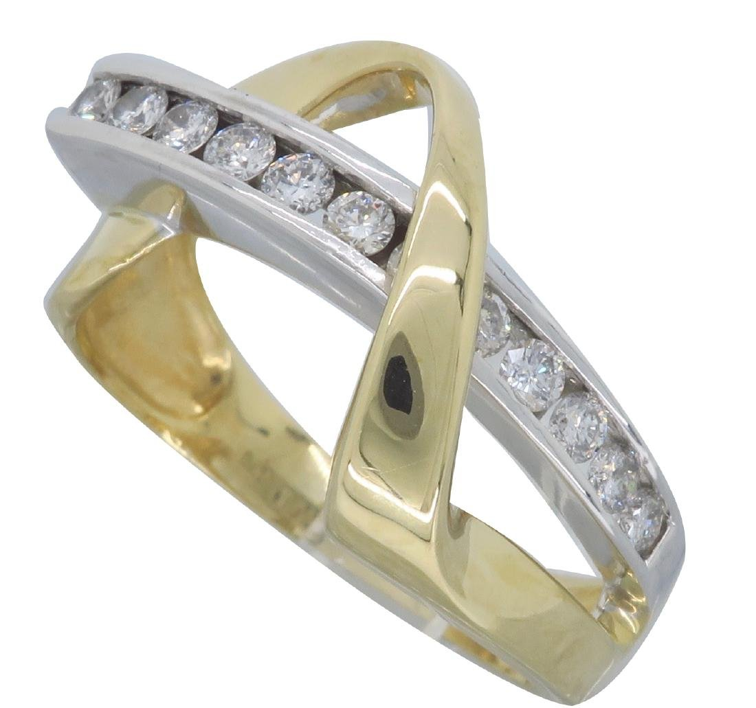14KT Two Tone Gold 0.50ctw Diamond Ring - 2