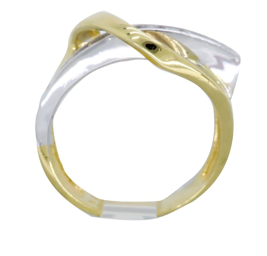 14KT Two Tone Gold 0.50ctw Diamond Ring - 4